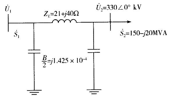 某330kv输电线路的等值电路如图所示