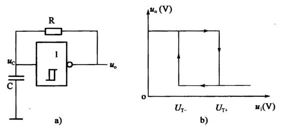 双稳态触发器 b. 单稳态触发器